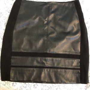 White house Black Market pleather skirt size 02